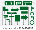 set of road signs isolated.... | Shutterstock .eps vector #1264584937