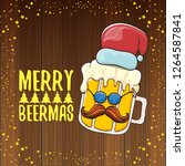 merry beermas vector christmas... | Shutterstock .eps vector #1264587841