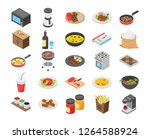 this is pack of cooking flat... | Shutterstock .eps vector #1264588924