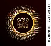 new year 2019 background. gold... | Shutterstock .eps vector #1264605154
