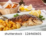 Close Up Of Sea Bream Fish With ...