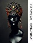 head of mannequin in creative... | Shutterstock . vector #1264609111