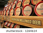 Beer Barrels On Wagon