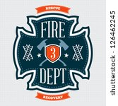 fire department emblem crest... | Shutterstock .eps vector #126462245