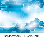 abstract background of science... | Shutterstock .eps vector #126462281