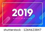 2019 happy new year with... | Shutterstock .eps vector #1264623847