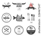 restaurant menu design elements ... | Shutterstock .eps vector #126467147