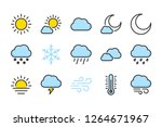 weather color line icons....   Shutterstock .eps vector #1264671967