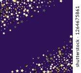stars confetti diagonal border. ... | Shutterstock .eps vector #1264675861