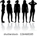 women silhouette | Shutterstock .eps vector #126468185