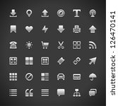 web site vector icons set | Shutterstock .eps vector #126470141
