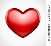 shiny heart shape vector...