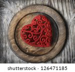 Heart on Plate - stock photo