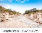 the curetes street or marble... | Shutterstock . vector #1264713094