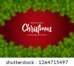 merry christmas background | Shutterstock .eps vector #1264715497