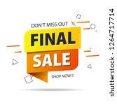 yellow orange tag final sale... | Shutterstock .eps vector #1264717714
