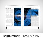 business brochure layout  vector | Shutterstock .eps vector #1264726447