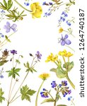 background with watercolor... | Shutterstock . vector #1264740187
