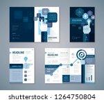 cover book design set  blue... | Shutterstock .eps vector #1264750804