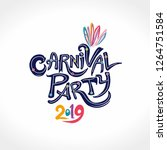 carnival party 2019. hand drawn ...   Shutterstock .eps vector #1264751584