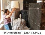 moving house scene interior of...   Shutterstock . vector #1264752421