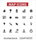 map icons set  vector | Shutterstock .eps vector #126476555