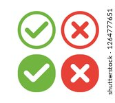 Green Check Mark And Red Cross  ...