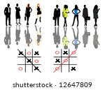 illustration of people in match | Shutterstock .eps vector #12647809