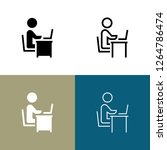 workplace icon set | Shutterstock .eps vector #1264786474