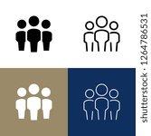 community icon set | Shutterstock .eps vector #1264786531