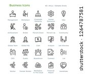 business icons   outline styled ... | Shutterstock .eps vector #1264787581