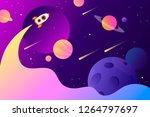 horizontal space background... | Shutterstock .eps vector #1264797697