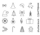 simple set of chrismas vector... | Shutterstock .eps vector #1264798444