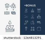 commerce icon set and cashback...