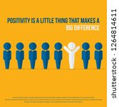 positivity is a little thing... | Shutterstock .eps vector #1264814611