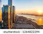 aerial new york city waterfront ... | Shutterstock . vector #1264822294