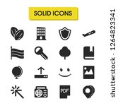 mixed icons set with building ...