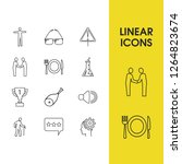 universal icons set with meetup ...
