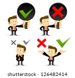 businessman   yes  no sign | Shutterstock .eps vector #126482414