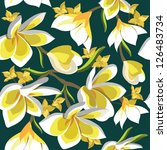 floral seamless pattern with... | Shutterstock .eps vector #126483734