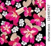 floral seamless pattern  hand... | Shutterstock .eps vector #126483917