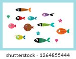 cute fish vector collection | Shutterstock .eps vector #1264855444