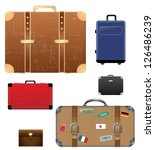 set of suitcases   Shutterstock .eps vector #126486239