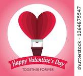 heart air ballooon to valentine ... | Shutterstock .eps vector #1264875547