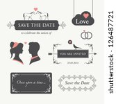 set of wedding design... | Shutterstock .eps vector #126487721