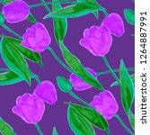 floral seamless pattern with... | Shutterstock . vector #1264887991