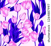 floral seamless pattern with... | Shutterstock . vector #1264887997