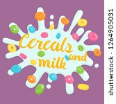 title of cereal and milk | Shutterstock .eps vector #1264905031