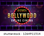 indian gold bollywood online... | Shutterstock .eps vector #1264911514