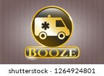 gold shiny badge with...   Shutterstock .eps vector #1264924801
